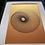 Thumbnail: Black / Orange Gold Spiral - Framed