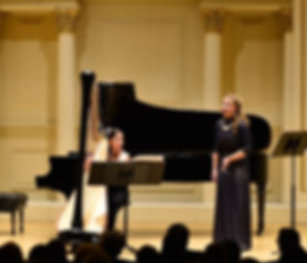 Jacqueline Pollauf performing at Carnegie Hall