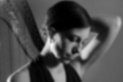 Photograph of harpist Jacqueline Pollauf