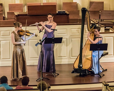 Trio Sirènes performing at Second Presbyterian Church, Baltimore MD