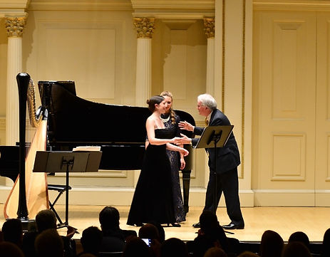 Jacqueline Pollauf after a performance at Carnegie Hall.