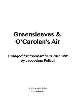 Cover of Greensleeves & O'Carolan's Air, arranged by Jacqueline Pollauf