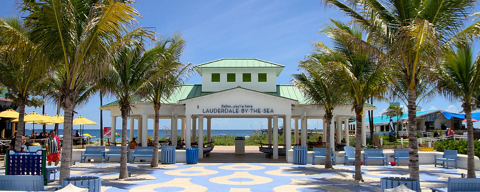 This is the town beach pavilion in Lauderdale By The Sea Florida.