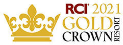 2021 RCI Gold Crown Resort Award Emblem