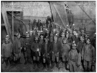 Group Photo of Upper Peninsula Copper Miners From Valentine's Day 1912