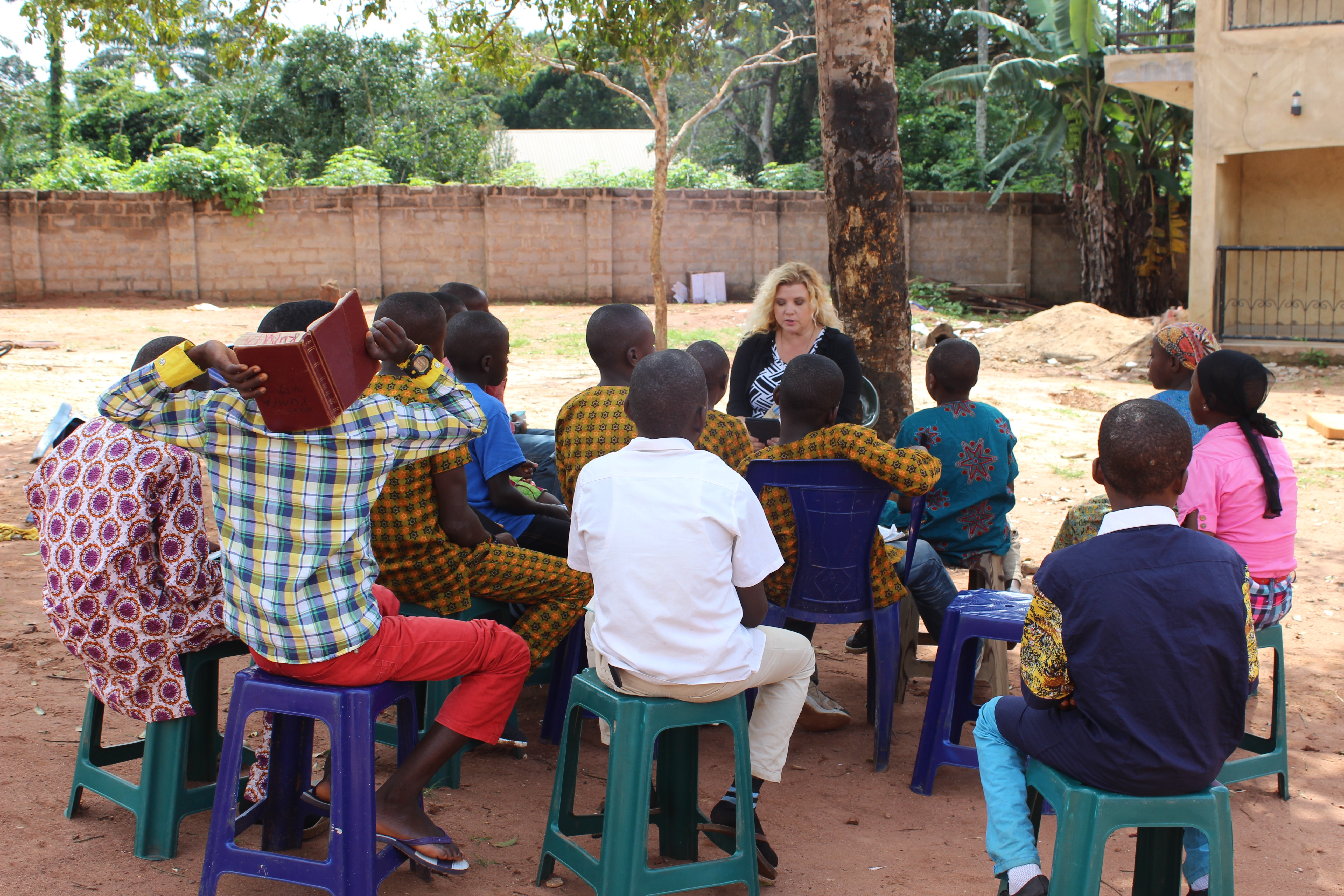 Karen teaching Sunday School