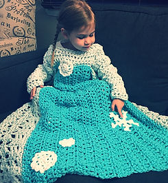 Snowflake Princess Dress Blanket