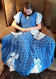 Blue Princess Dress Blanket