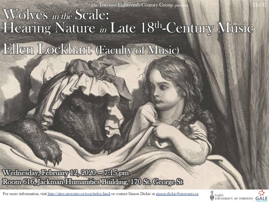 Music and Nature in the Enlightenment (TECG, Wed. Feb 12, 2020)