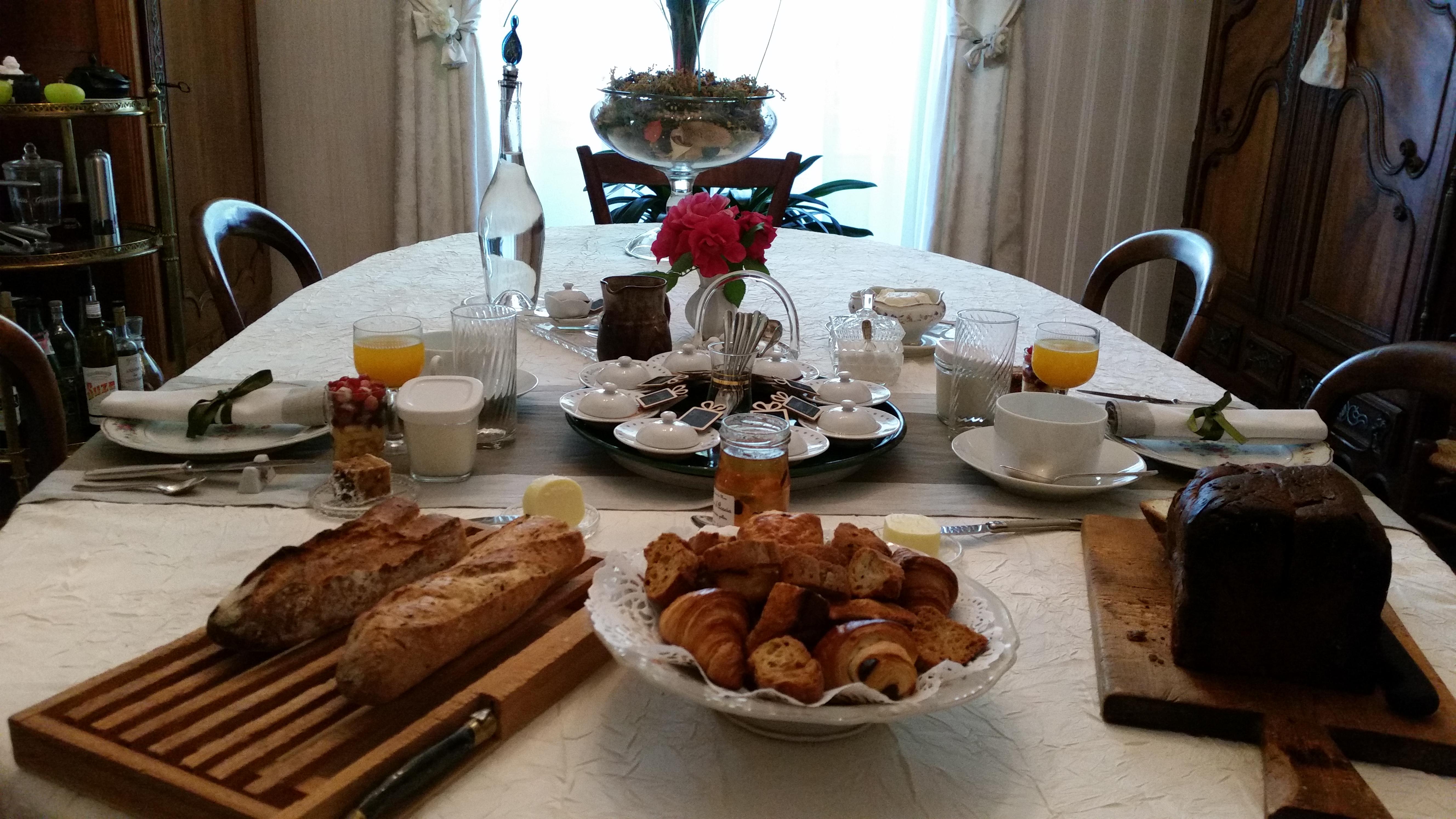 La table du petit-déjeuner