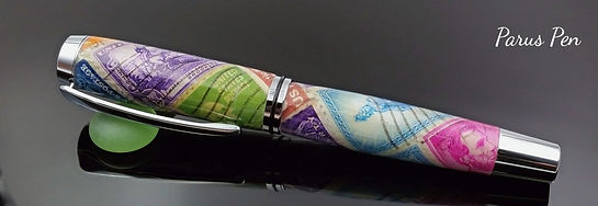 Handmade non-postable rollerball pen by Parus Pen