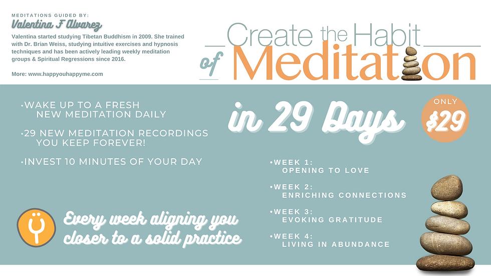 29-Day Program on Creating The Habit Of Meditation
