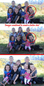 Large groups can be tricky. This is an example of two images combined to make it a better overall image.
