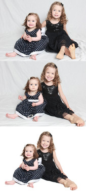 This white backdrop edit show the combination of two photos to make the best.