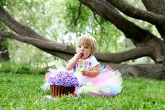 cake smash photos in calgary