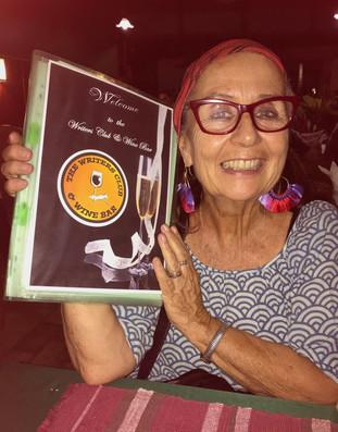 Janie at the Writers Club, Chiang Mai Thailand 2018