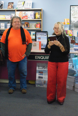 With Author and Publisher Philip McLaren at the Launch of Janie's book, 'Beneath the Grace of Clouds' at The Co-op - Southern Cross University 2010