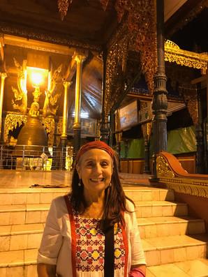 Janie at Shwedagon PagodaYangon, 2018