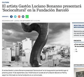 Diario Ibeconomia - Mallorca - España. Gaston Luciano Bonanno / artista plastico