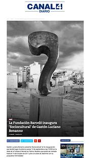 Diario canal 4 - Mallorca-España. Gaston Lucino Bonanno / artista plastico.