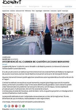 Bonart. Gaston Luciano Bonanno - artista plastico - Galeria My name´s lolita art.