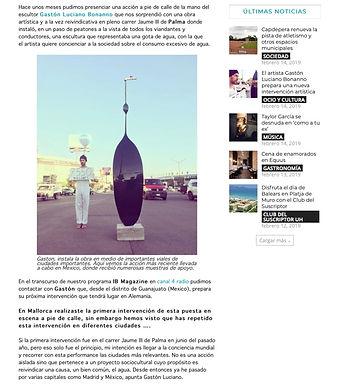 IB Magazine 14 de febrero de 2019. Gaston Luciano Bonanno - artista plastico.