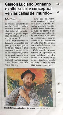 Gaston Luciano Bonanno - Diario Última hora, 9 de Julio de 2019. Mallorca-España.