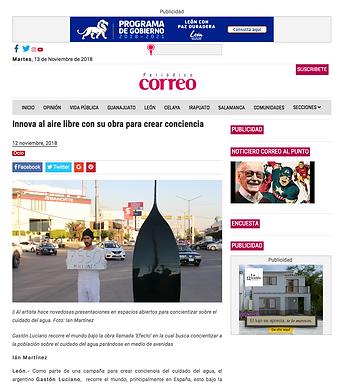 Periódico Correo, Gaston Luciano Bonanno. 13 de Noviembre de 2018.