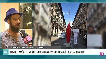 IB3 TV ¨CINC DIES¨ 8 DE AGOSTO DE 2019. Gaston Luciano Bonanno-artista platico
