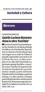 Diario de Mallorca. Gaston Luciano Bonanno - artista plastico