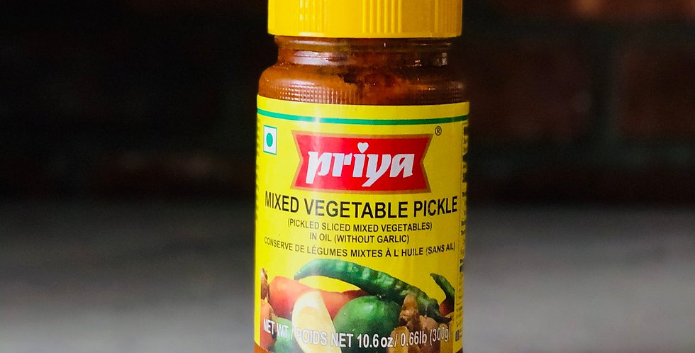 MIXED PICKLE (WITHOUT GARLIC) BY PRIYA