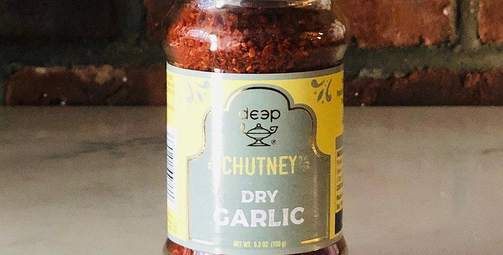 DRY GARLIC CHUTNEY BY DEEP