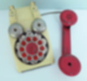 Vintage Gong Bell 1950s mid-century toy telephone