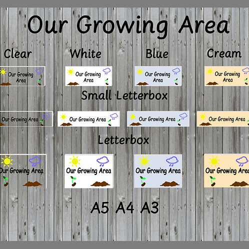 Our Growing Area