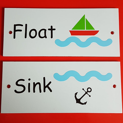 Float, sink, splash, pour