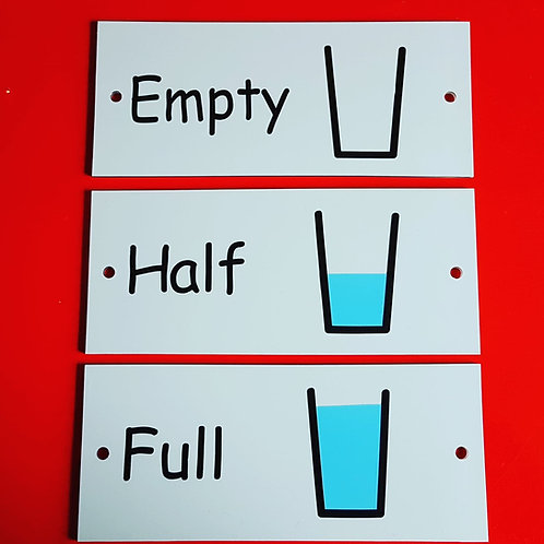 Empty, half, full