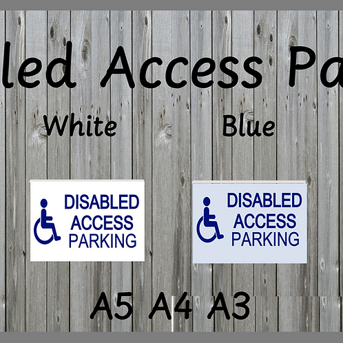 Disabled access parking