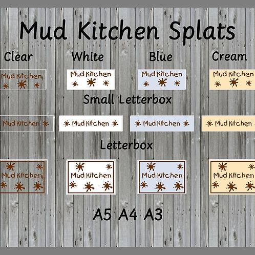 Mud Kitchen Splats