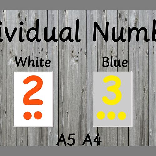 Individual Numbers 1-10
