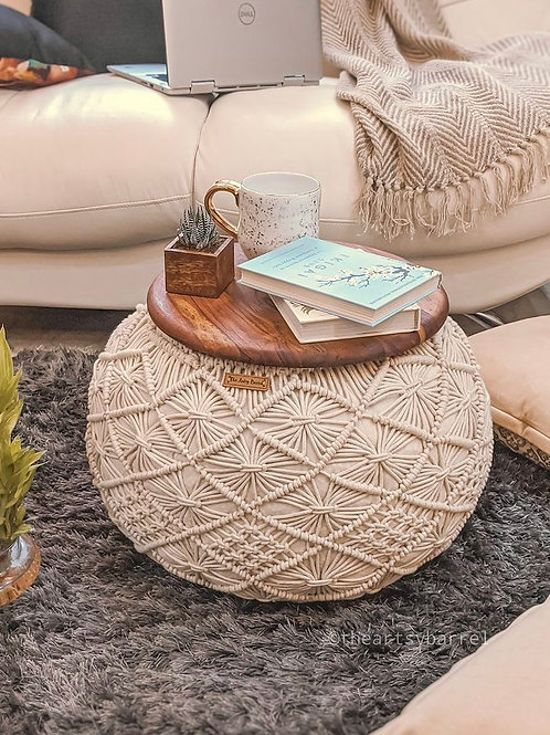 Hand Knitted Pouffe