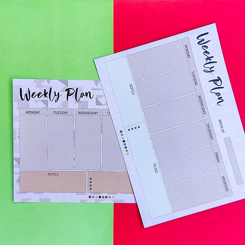 Weekly Planners