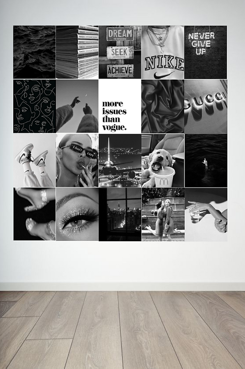 Black and White Wall Collage