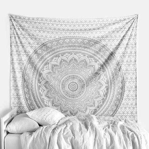 Grey Ombré Mandala Tapestry