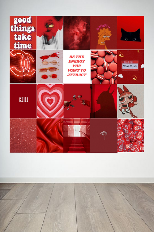 Red Wall Collage