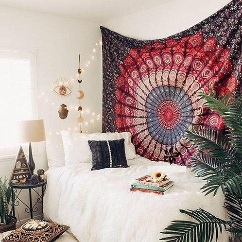 Boho Wine Mandala Tapestry