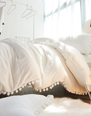 Indian White Duvet Cover With Two Pillow Cover