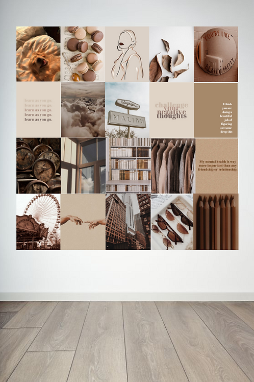 Brown and White Wall Collage