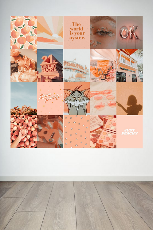 Peachy Wall Collage