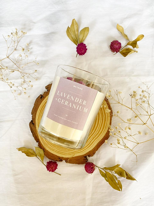 Lavender+Geranium Candle
