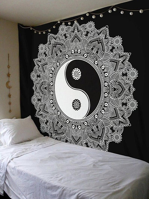 Yin Yang Mandala Tapestry